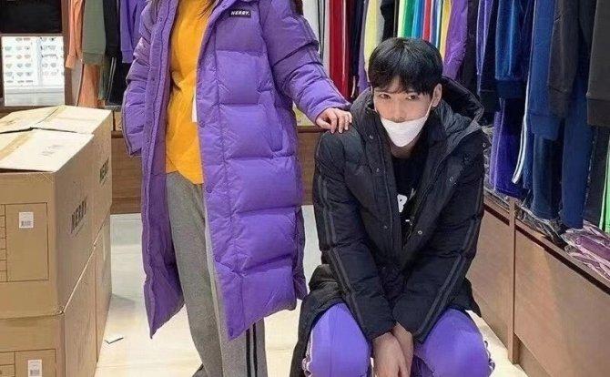 韩国潮牌Nerdy90白鸭绒过膝羽绒服